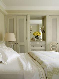 Christopher Maya - bedrooms - monochromatic bedroom, restful bedroom, built in bedroom closets, built in closets, built in floor to ceiling