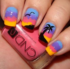 20 Sunset Nail Design Ideas Free Nail Technician Information http://www.nailtechsucce... | See more at http://www.nailsss.com/...  | See more at http://www.nailsss.com/colorful-nail-designs/2/