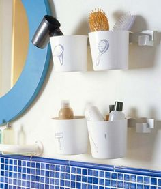 Bathroom storage cups