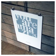 you are amazing unframed recycled paper print | wood and willow