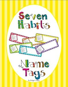 7 Habits Name Tags