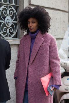 fashion weeks, style fall, shades of purple, milan fashion, dusty pink, street styles, blues, fashion model, coat