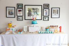 Retro birthday party dessert table. #dessert #birthday #party