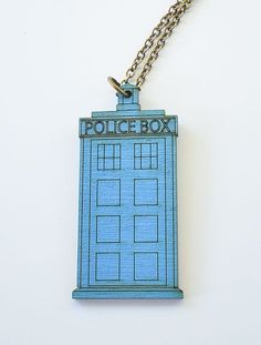 TARDIS Necklace Inspired by Doctor Who by UnpossibleCuts on Etsy, $20.00