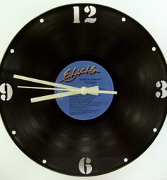 Recycled Vinyl Record Wall CLOCK KIT Included - ANY Available Record - by SecondSpinDesigns