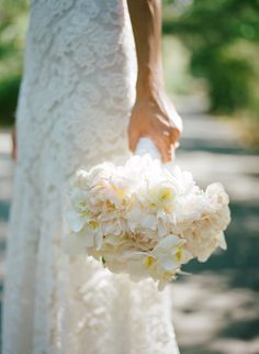 Gorgeous lush white, ivory bridal bouquet. Floral Design: Fleurs de France. www.fleursfrancec.com Photo: Meg Smith