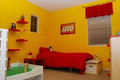 "lego room decor | Lego Room, ""Lego paradise"" is what my son asked for!, We matched a ..."