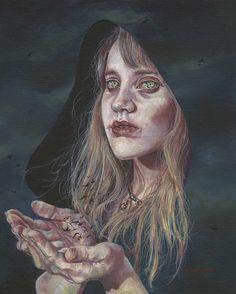 "The Messenger // 8"" x 10"" // oil on canvas board by Brianna Angelakis http://www.briannaangelakis.com"