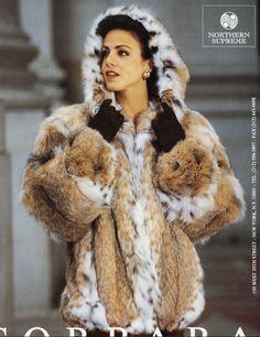 hooded lynx fur jacket
