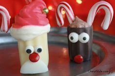 Chocolate Cups for the Holidays. Very Cute Mini Chocolate Desserts. Chocolate Cups from Kane Candy. www.KaneCandy.com