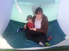 Sam in a tent... cha