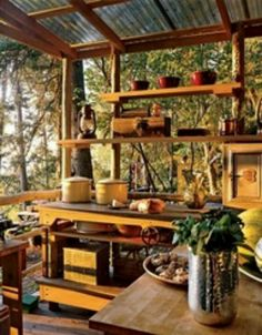 This would soo work! outdoor kitchens, outside kitchens