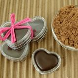 DIY Chocolate Lip Balms with Cocoa Powder...these would make lovely Valentine's Day gifts!