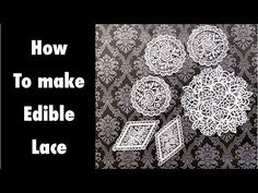 How to make edible lace with 3 ingredients.????. UPDATE: I dont use this method anymore. I use icing sheets for my lace. Its safe my time and much easy to make. look at my new videos. To make lace I use: 1tsp tylose powder 1 tbsp+1 tsp boiling water 2 tsp