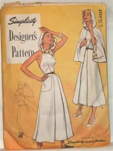 Vintage 1950's RARE 8000 SERIES Simplicity pattern 8084.
