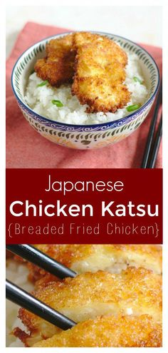 Chicken Katsu – Crisp chicken deep-fried and topped with tonkatsu sauce. This classic Japanese dish is easy to make and the whole family will love it! Japanese Recipe | Katsu Chicken | Katsu Sauce #japanese #chicken #katsu #dinner #recipe #easyrecipe #dinnerrecipe #japaneserecipe