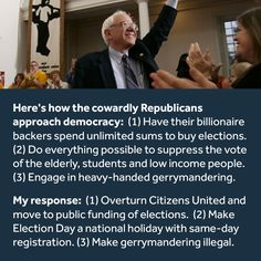 Sounds like a presidential campaign platform to me!