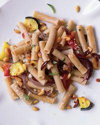 Whole Wheat Rigatoni with Roasted Vegetables Recipe on Food & Wine