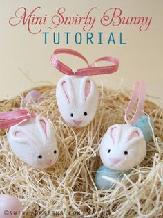 www.swirlydesigns.com http://swirlydesignsblog.blogspot.com/2009/03/mini-swirly-bunny-how-to.html #diy #handmade #easter #bunny #polymerclay #swirly #create #tutorial #howto