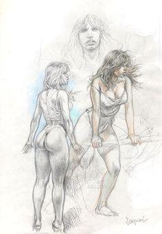 Paolo Eleuteri Serpieri - Druuna sketch Comic Art druuna sketch, sketch comic, comic art