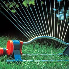 How water does your lawn need? Figure about 1 inch a week, ½ to ? inch at a time. Some grasses need more, some less.