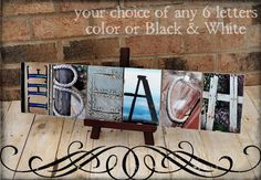 Alphabet Photography Personalized Any  6 Letter by FrittsCreative, $45.00