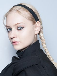 Look now: Black eyeliner—Heavy 360-degree liner had a distinct Wednesday Addams vibe at the Marc by Marc Jacobs fall 2014 show