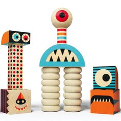 Stack N Scare 15pcs Wooden Block Set 2