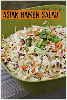 One of my faves: Asian Ramen Salad