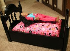 Doll Bed out of kitchen chairs