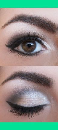 Light to dark eyeshadow. My typical look.