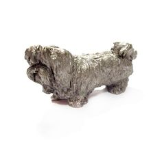 Vintage Mini Pewter Dog Figurine