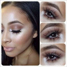 Not a fan of the lashes but love the rest of the look