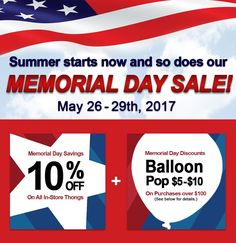 Memorial Day Sale! S