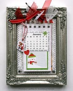 calendar countdown, doodlebug inspir, doodlebug design, alter project