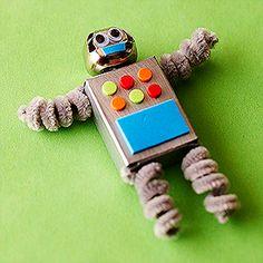 Chenille Stem Craft Ideas: Chenille Stem Robot