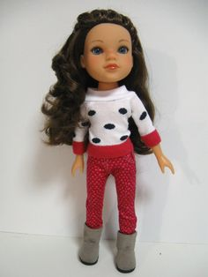 Hearts 4 Hearts Doll Clothes Dots by 123MULBERRYSTREET on Etsy, $23.00