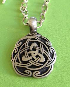 Irish Celtic Knot Necklace by joytoyou41 on Etsy, $30.00