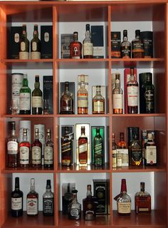 Scotch & Whiskey home bar