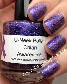 Crystal's Crazy Combos: U-Neek Polish - Chiari Awareness