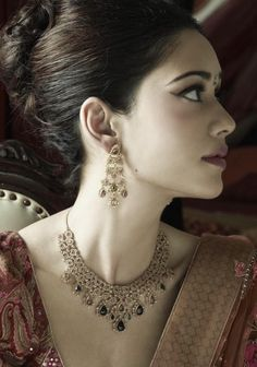 Jewelry from the Bridal Collection from Tanishq. #jewelry #india #indian #bridal #wedding #tanishq #necklace