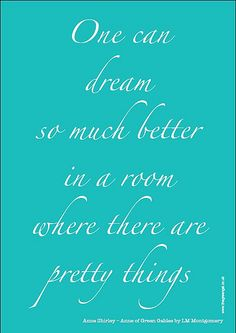 Free Anne of Green Gables quote poster