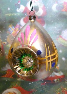 Vintage Christmas Ball with Indent