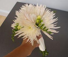 white spider mum bouquet - Google Search