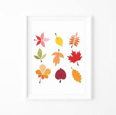 fall leaves, leav print, print fall