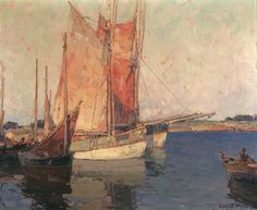 """Brittany Boats,"" Edgar Alwin Payne, oil on canvas, 25 x 30"", Private collection."