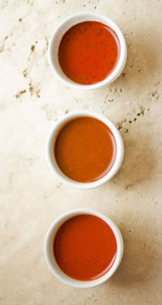 Red chile sauces from three different powders mjskitchen.com @Michael Stillwell Kitchen