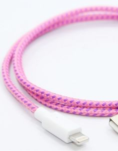 Lightning P!Nk Collective Cable by Eastern Collective. Really want this cable for my new iPhone.