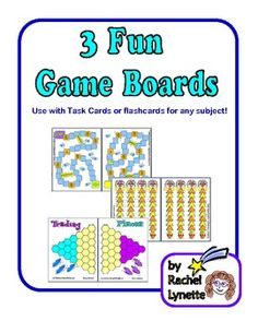 FREE Game Boards to Use with Task Cards or Flashcards!
