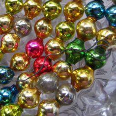 Vintage Mercury Glass Bead Christmas Garland
